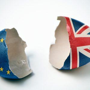 Broken UK Euro Egg
