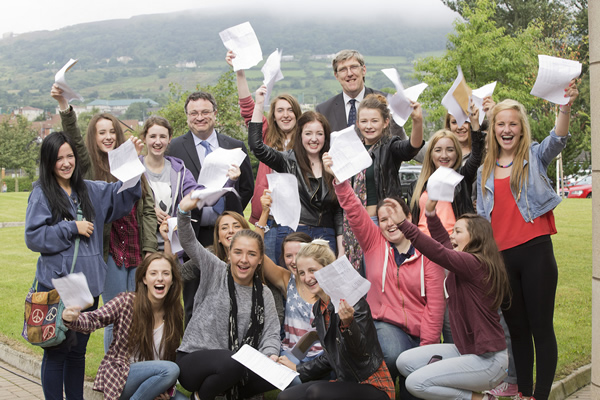 Students with exam results