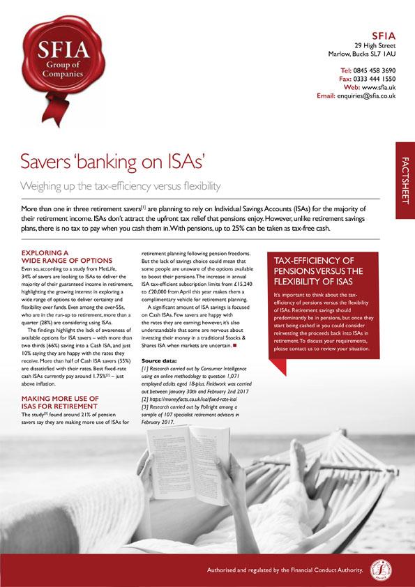 Banking on ISAs
