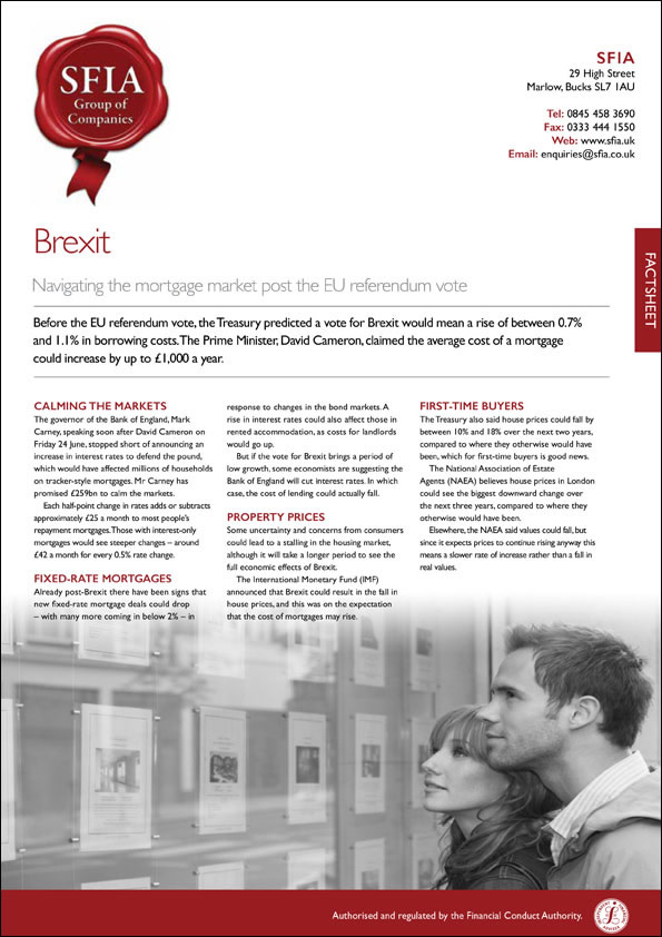 Brexit - SFIA Group Ltd