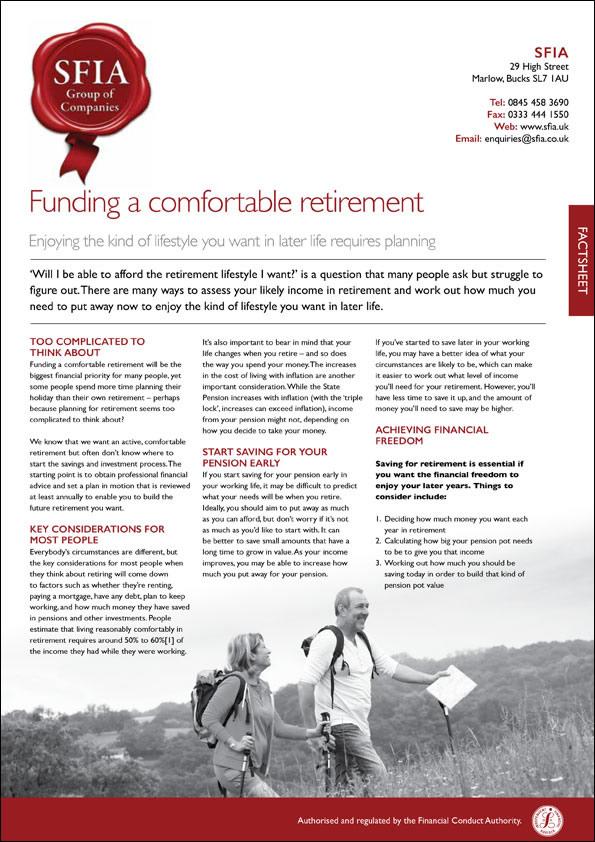 Comfortable Retirement