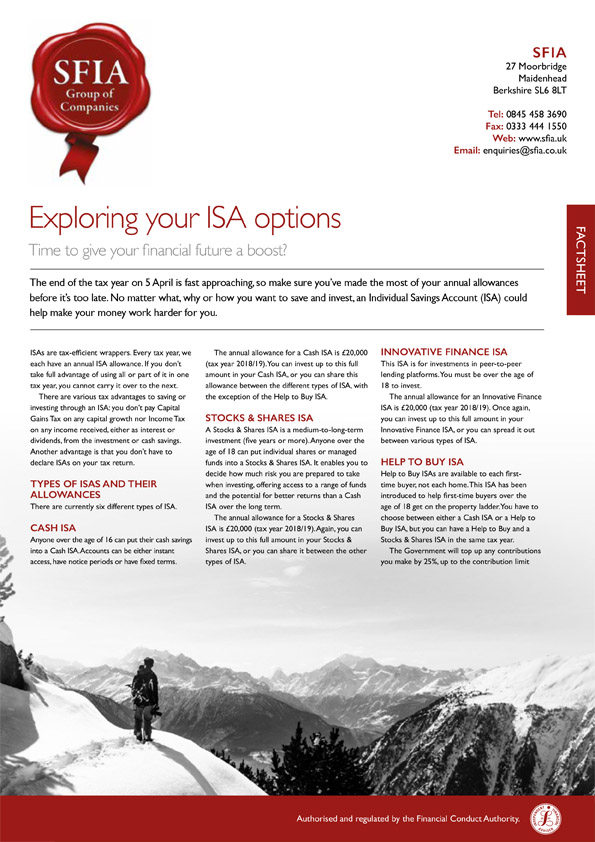 Exploring your ISA options
