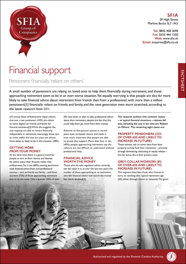 Financial Protection - SFIA Group Ltd