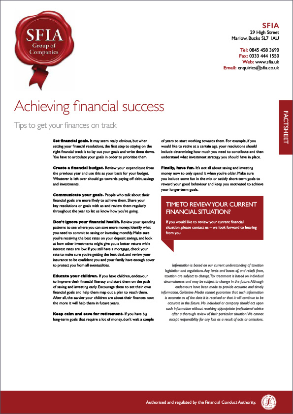 Financial Success - SFIA Group Ltd