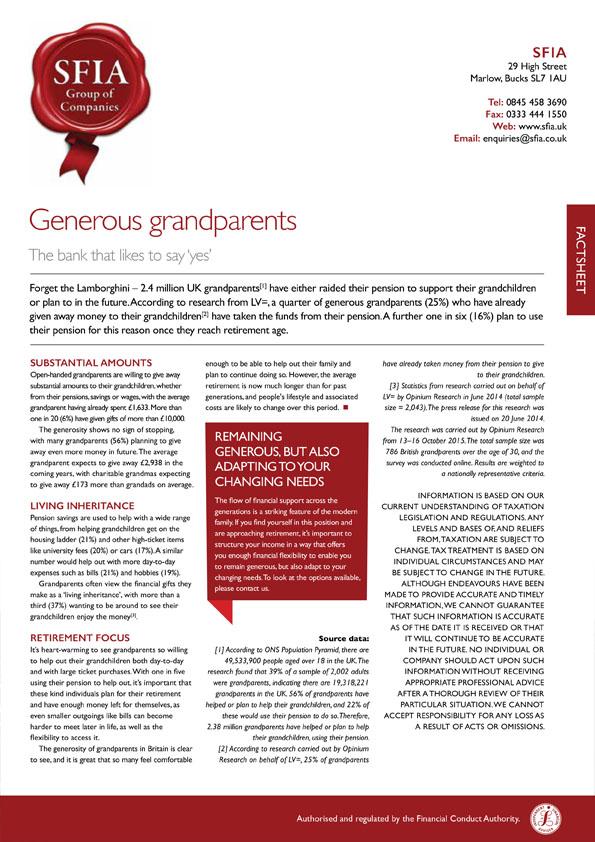 Generous Grandparents