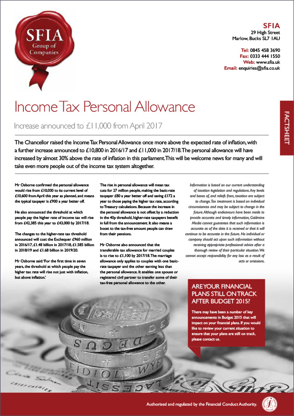Income Tax Personal Allowance