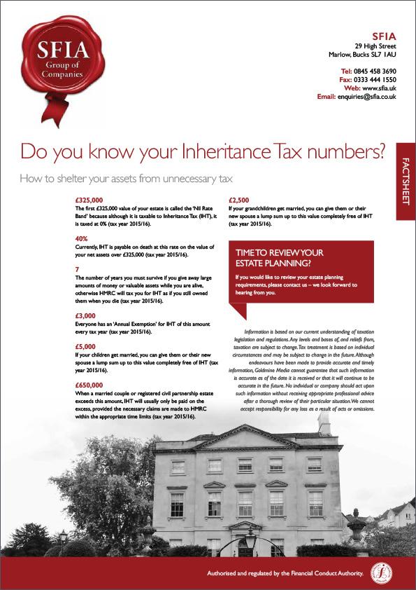 Inheritance Tax Numbers