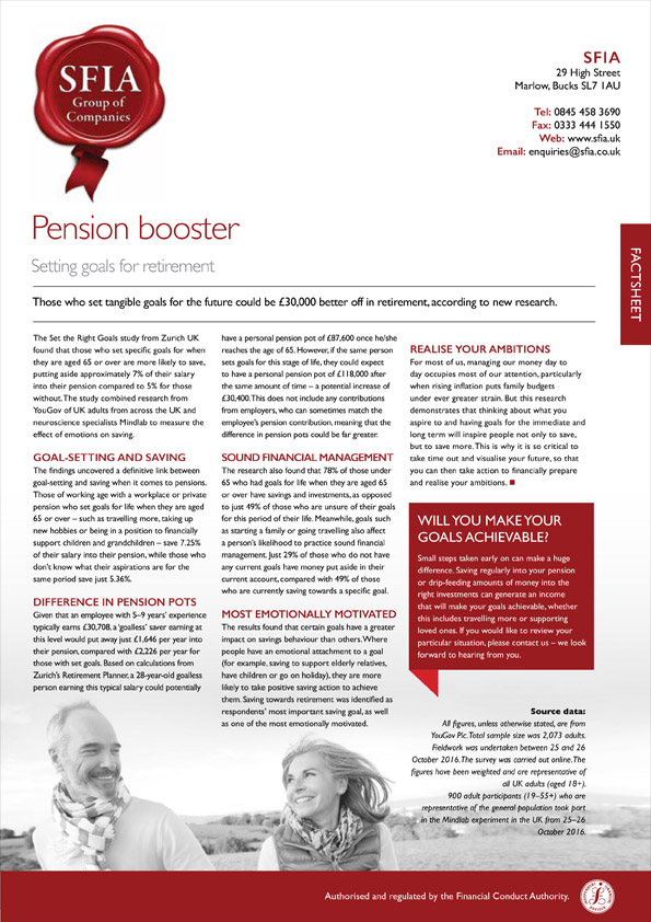 Pension Booster