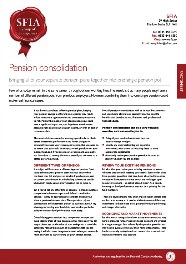 Pension Consolidation