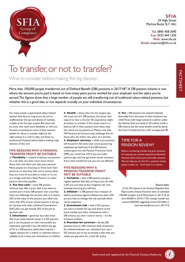 To transfer so rnot to transfer