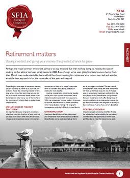 retirement matters